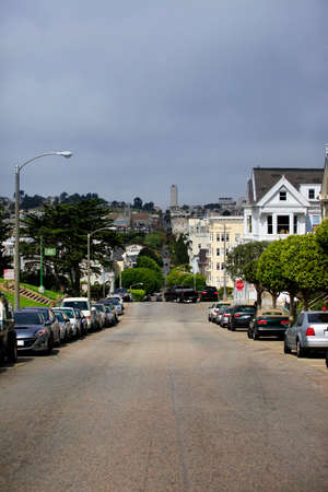 View to San Francisco with Alamo Square photo