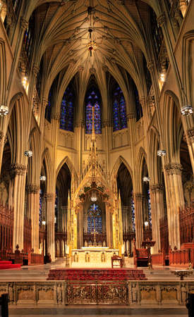 north window arch: Ceiling Cathedral of St. Patrick, Manhattan, NYC