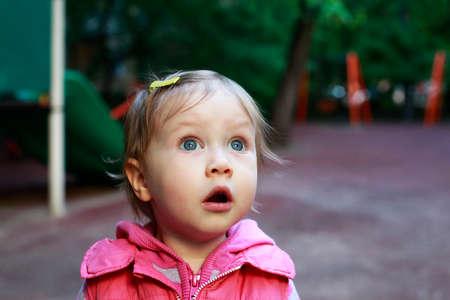 nurseries: Portrait of a surprised little girl