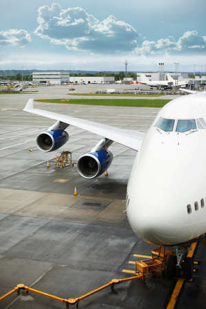 air freight: Loading platform of air freight to the aircraft. London Heathrow Airport