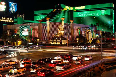nevada: LAS VEGAS, NEVADA - September 19, 2011: MGM Grand Hotel on the strip on September 19, 2011 in Las Vegas, Nevada.