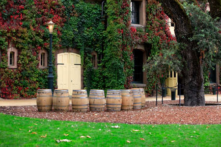 mediterranian houses: Napa valley vineyard, California