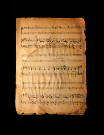 manuscript: Old vintage musical page with notes