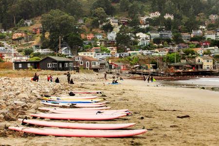 passtime: San Francisco, CA, USA - September 24, 2011: Pacifica State Beach in San Francisco