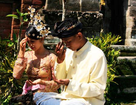 結婚式: インドネシアの結婚式の結婚式の瞬間