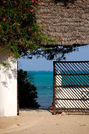 zanzibar: Access to the beautiful turquoise Indian Ocean, Zanzibar.