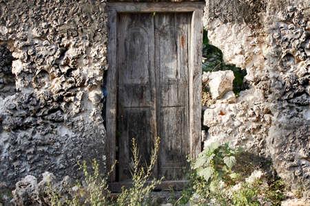 east africa: Old wooden door at Stone Town the capital of Zanzibar island East Africa.