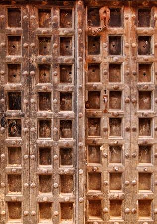 zanzibar: Old wooden door at Stone Town the capital of Zanzibar island East Africa. Zanzibar