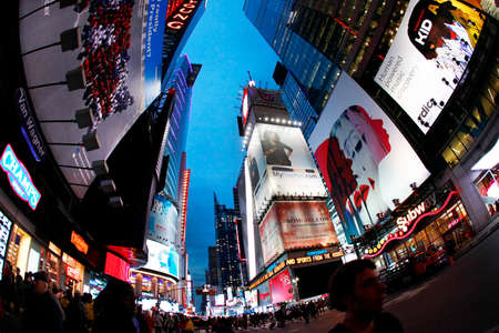 ny: New York, USA - October 9, 2012: Times Square, featured with Broadway Theaters and huge number of LED signs, is a symbol of New York City and the United States, Manhattan, New York City Editorial