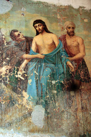 the believer: Picture executed by oil in the Moscow church