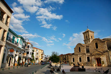 bell tower: Larnaca, Cyprus - May 23, 2016: St. Lazarus church - the tomb of St. Lazarus in Larnaka, Cyprus.