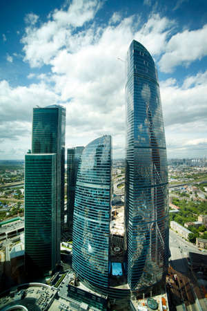 international business center: Moscow, Russia - June 10, 2016: Moscow City. View of skyscrapers Moscow International Business Center.