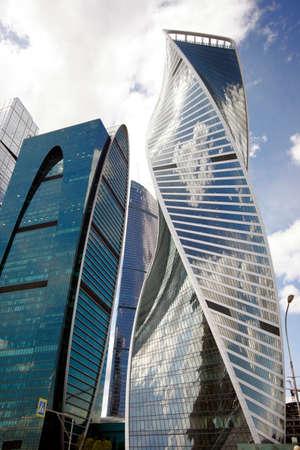 international business center: View of skyscrapers Moscow International Business Center.