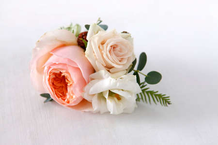 boutonniere: Image of a creatively designed boutonniere Stock Photo