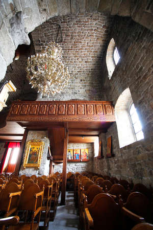 The interior of the St Lazarus church with the golden iconostasis in LArnaca, Cyprus