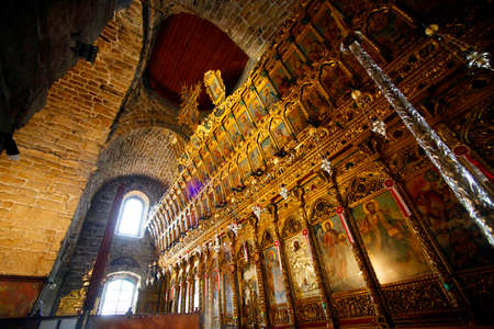 iconostasis: The interior of the St Lazarus church with the golden iconostasis. Larnaca, Cyprus