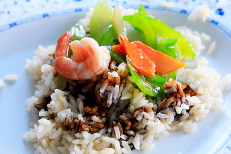 souse: Cooked rice and prawns with souse