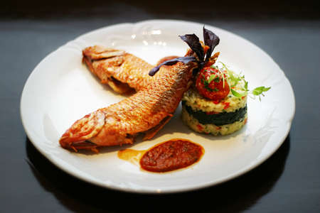 diet dinner: Dish from a fish
