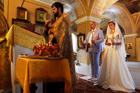 Before the wedding ceremony - inside church Editorial