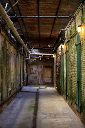 Inside view of Alcatraz Jail House Block Editorial
