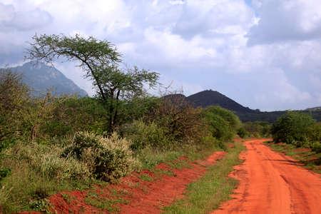 dormant: Park Tsavo East National - salah satu yang tertua dan taman negara terbesar di Kenya
