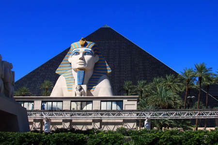 Las Vegas, USA - September 22, 2011: A glimpse at the Sphinx on the Luxor hotel ground in Las Vegas.