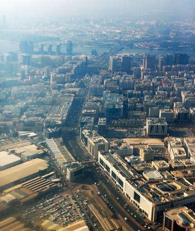 Aerial View of Dubai City Imagens