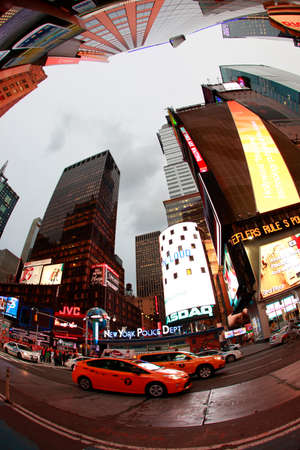 New York, USA - October 10, 2012: Times Square, featured with Broadway Theaters and huge number of LED signs, is a symbol of New York City and the United States, Manhattan, New York City Editorial