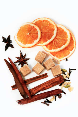 Dry ingredients for mulled wine