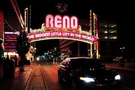 Cartel de bienvenida, Reno, Nevada