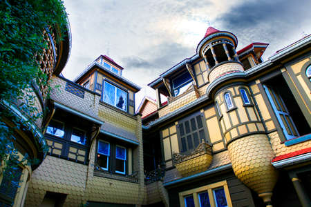 The Winchester Mystery House - the house number 525 on Winchester Boulevard in San Jose, California, USA, is now an extravagant tourist attraction.