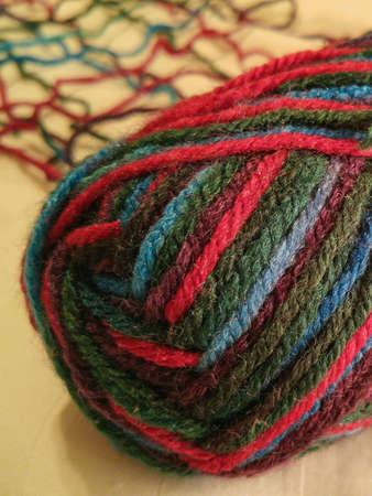 Multicolored ball of yarn