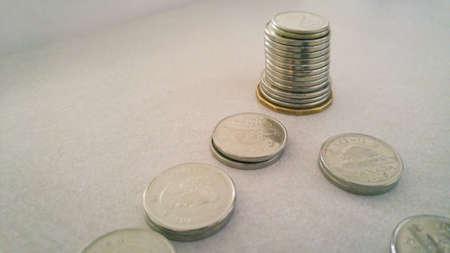 silver: Follow the money trail. Stock Photo