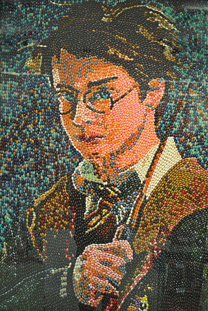 harry: harry potter made from candy Editorial