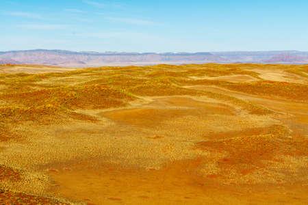 Airwiew de las dunas y sourounding región del Sossusvlei. Aquí podrá encontrar los mundos Highes dunas de arena. Situado en Namib Naukluft Park, Namibia, África. Foto de archivo - 64887231