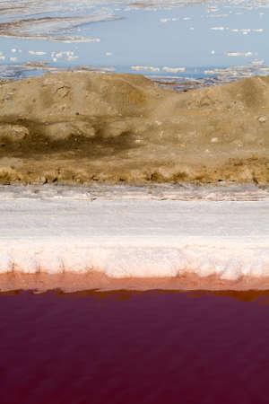swakopmund: Bassin for seawater desalination  salt extraction near swakopmund, namibia, africa