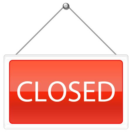 Closed Sign - red color