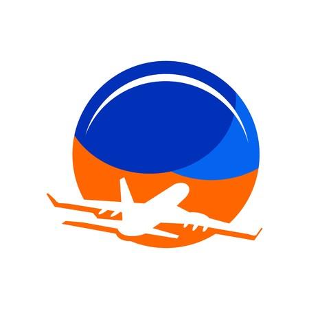Logo Travel Holidays Plane tourism Illustration