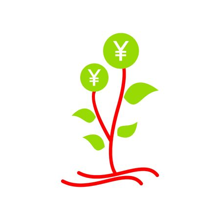 palmtop: Money tree vector Illustration