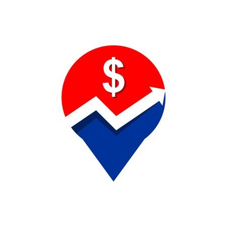 palmtop: Business finance logo vector