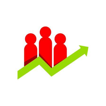 palmtop: Business people finance logo vector