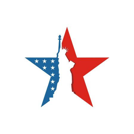 star icon: America USA logo Liberty Star icon vector