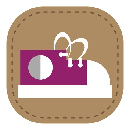 sleeping car: Baby Icons Design symbol of toys and baby equipment color