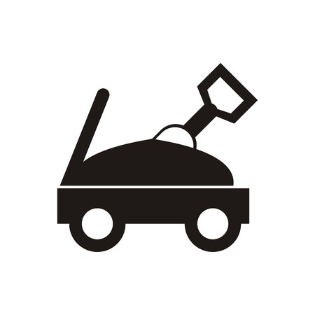 sleeping car: Baby Icons Design symbol of toys and baby equipment black Illustration