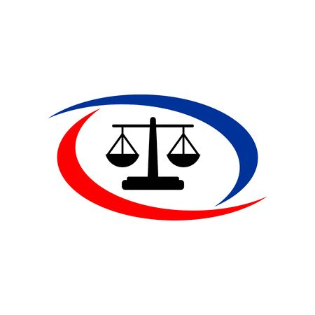prosecutor: Law balance symbol justice scales icon on stylish