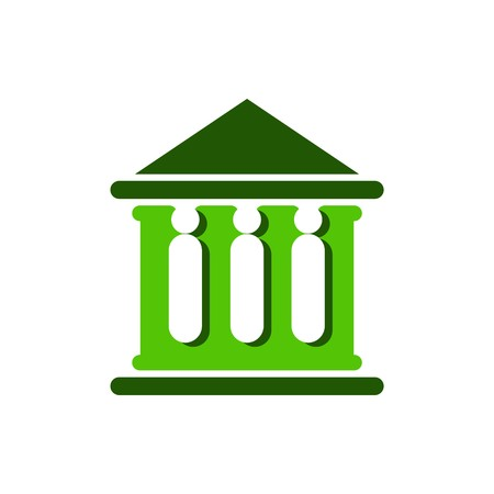 magistrate: Law court bank house symbol justice finance icon