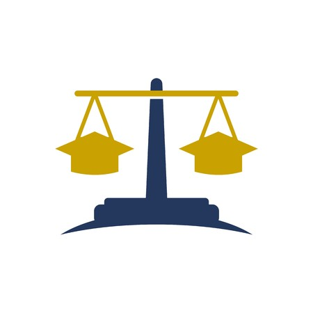 magistrate: Law balance symbol justice scales icon on stylish