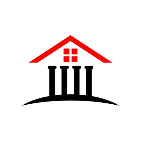 prison house: Law court bank house symbol justice finance icon