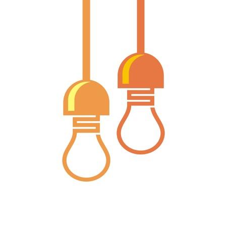 electricity pylon: design  bulb idea electricity power lamp circle Illustration