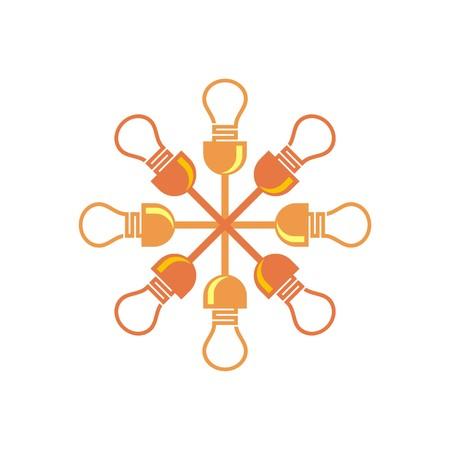 voltmeter: Electricity Power Icon bulb idea Symbol Illustration